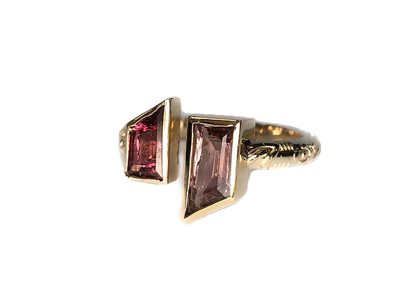 Custom designed tourmaline Ring