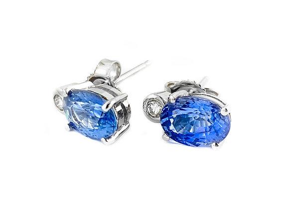 14k 2.63ctw sapphire earrings