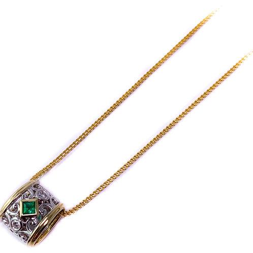 14k emerald pendant