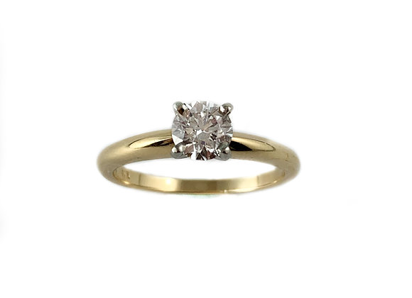 14k .60ct SI2 E XXX GIA solitaire diamond ring