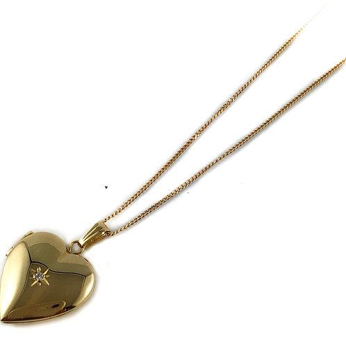 10k diamond locket