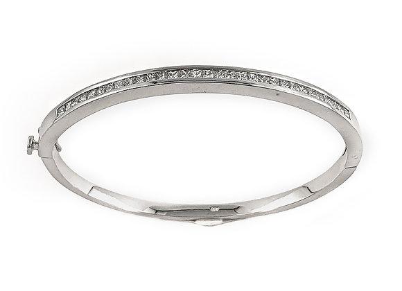 18k 2.00ct diamond bangle