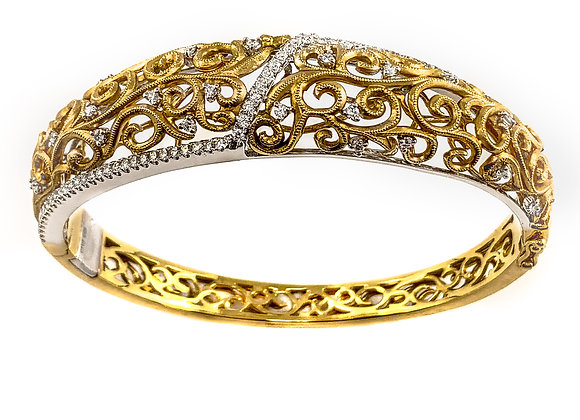 18k 1.13ct diamond bracelet