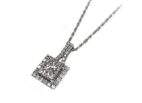 18k 1.00ct diamond pendant
