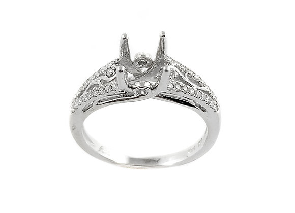 14k diamond ring semi-mount