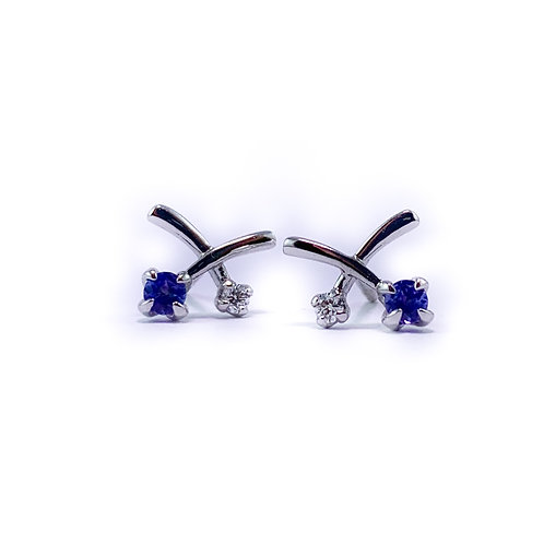 14k tanzanite and Canadian diamond earrings
