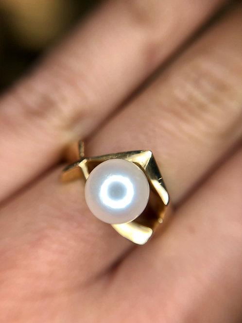 14k estate pearl ring