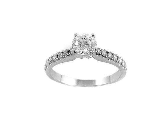 14k 1.00ct diamond ring