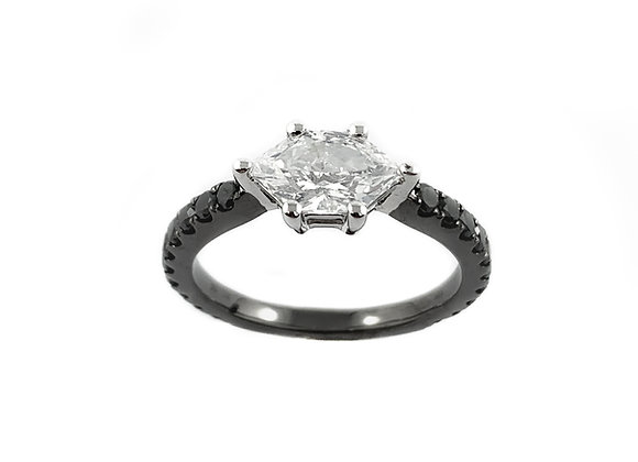 14k 1.36ct fantasy cut diamond ring
