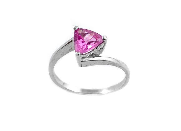 14k 0.82ct pink sapphire ring