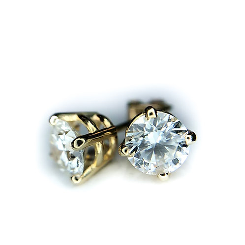 14k .50ctw diamond earrings