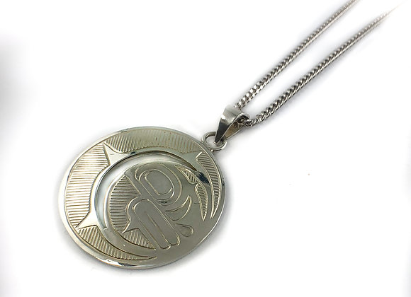 sterling silver native carving pendant