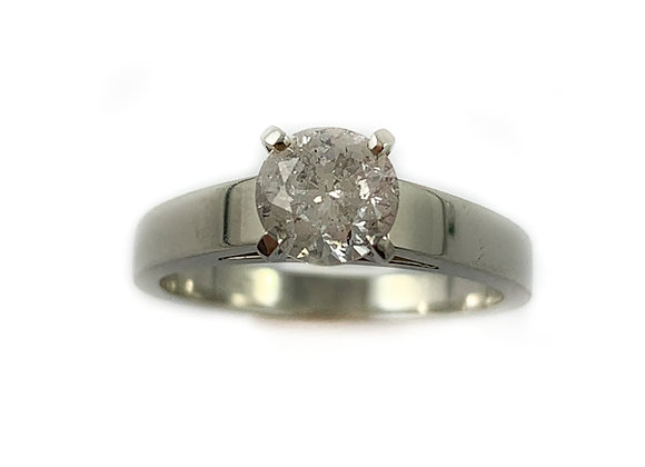14k 1.01ct I2 I-J diamond solitaire