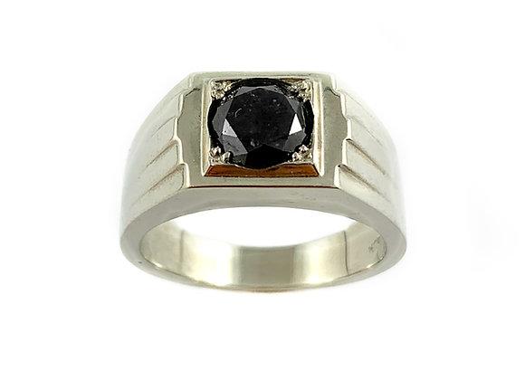14k 1.50ct black diamond ring