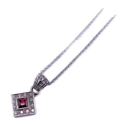 18k ruby and diamond pendant