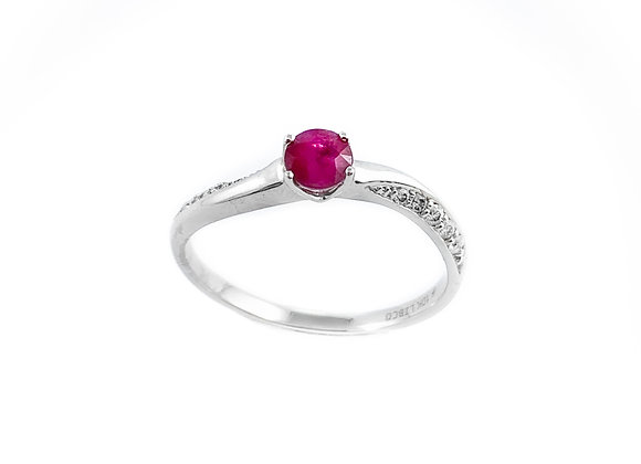 10k rubY & diamond ring