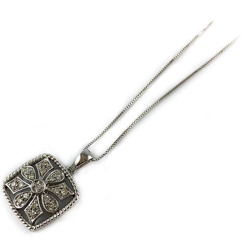 10k 0.17ctw diamond pendant