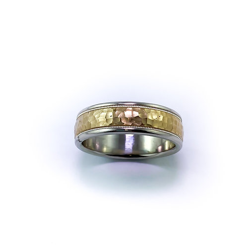 7mm 10k two tone gold band