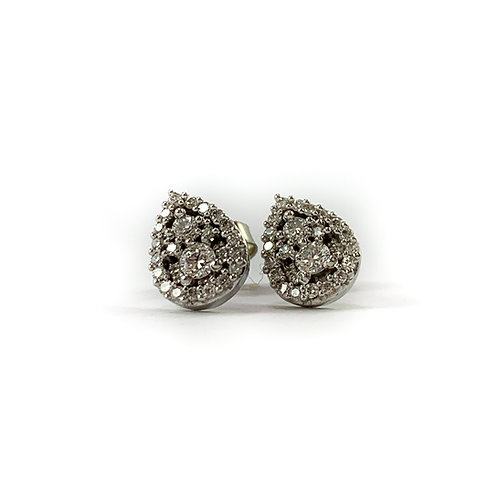 10k .08ctw Canadian diamond earrings