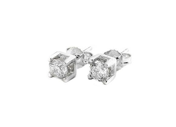 14k 0.75ctw diamond studs