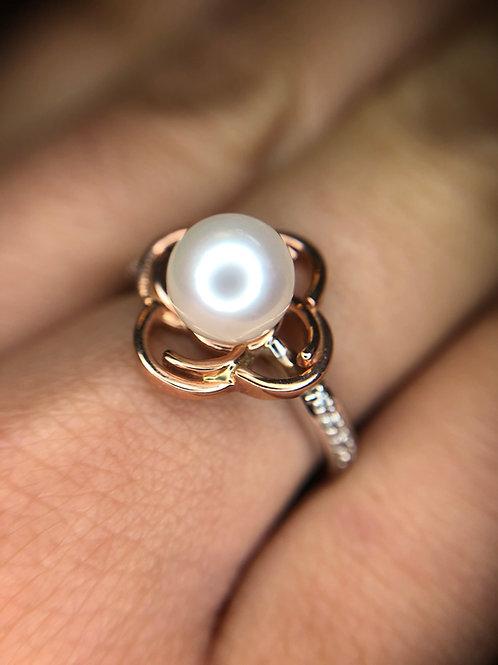 10k pearl ring