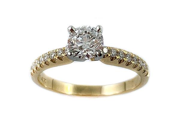 14k .58ctd SI G-H diamond ring