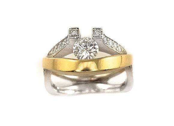 14k 0.36ct canadian diamond ring