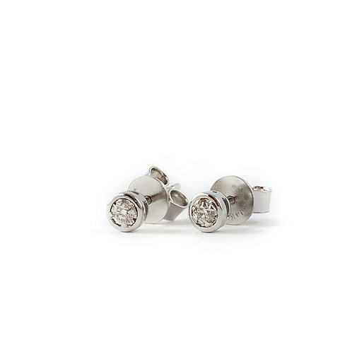 14k 0.10ctw diamond studs