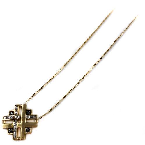 10k black diamond pendant