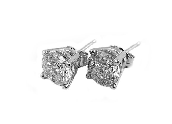 14k 2.09ctw diamond earrings