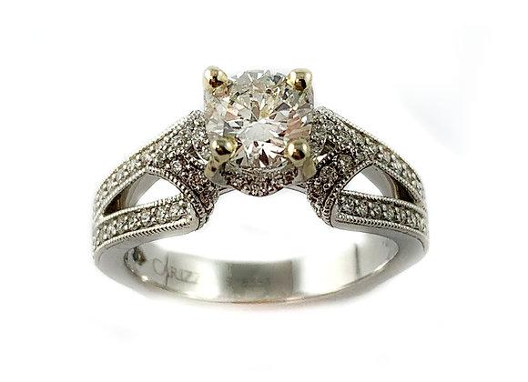 14k .80ctd SI2 H diamond ring