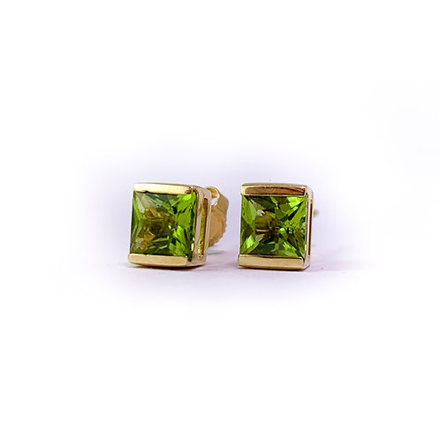 14k peridot earrings