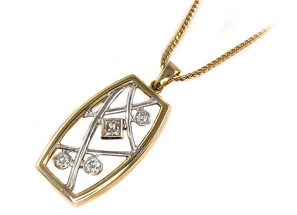 14k 0.27ctw diamond Max Strauss pendant