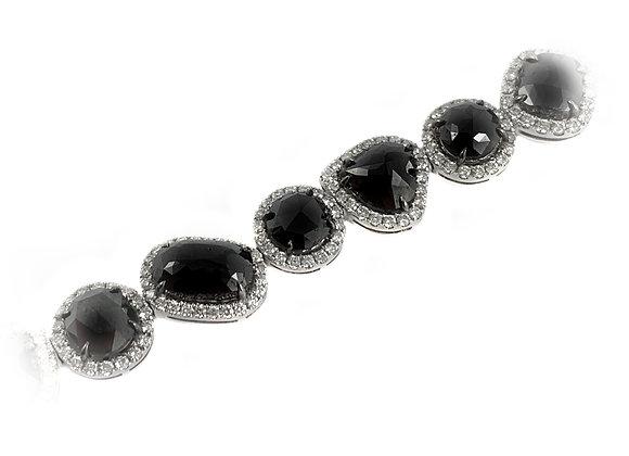 18k 23.66ctw black diamond bracelet