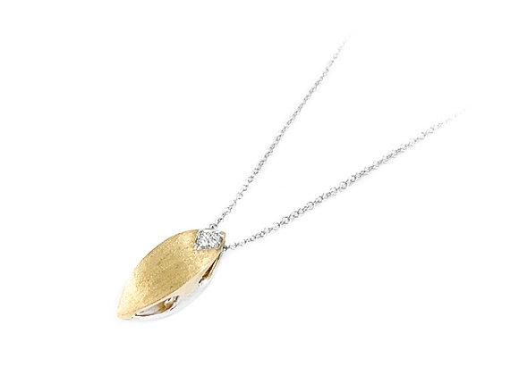 10k 0.08ct diamond pendant