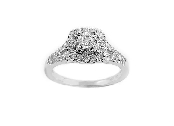 10k 0.40ct diamond ring