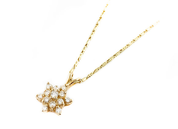 14k estate diamond pendant