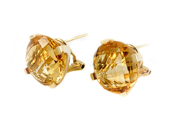 14k citrine earrings