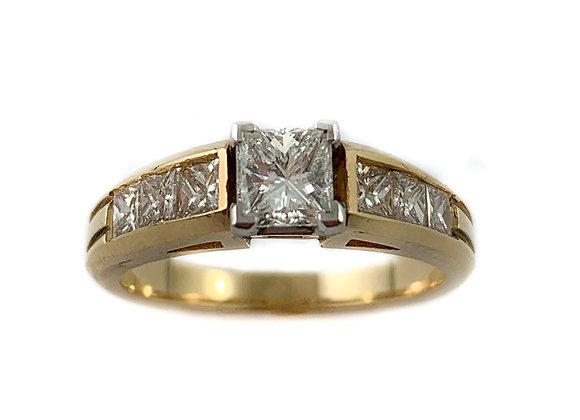 14k .55ctr .70ctw diamond ring