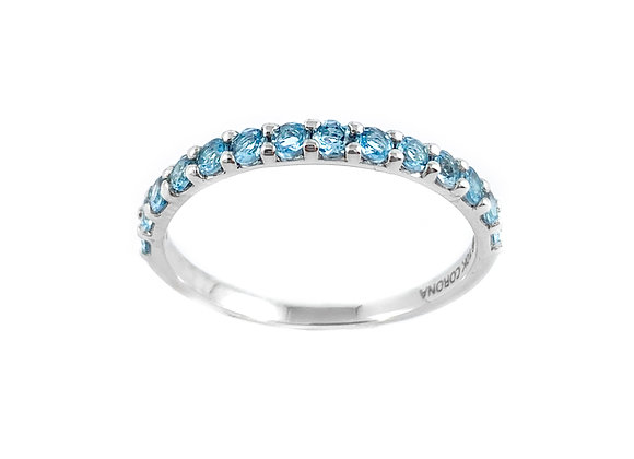 10k blue topaz birthstone ring