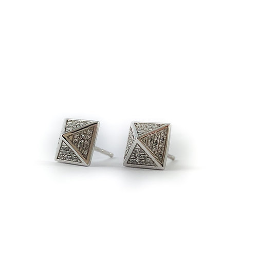 10k 0.11ctw diamond earrings