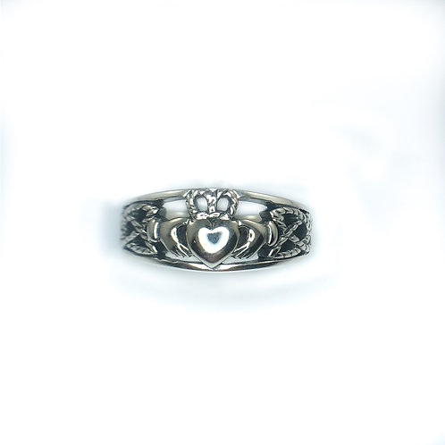 keith jack sterling silver claddagh ring