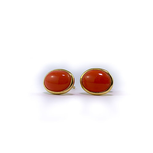 14k red coral earrings