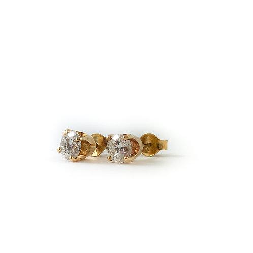 14k 0.30ctw diamond studs