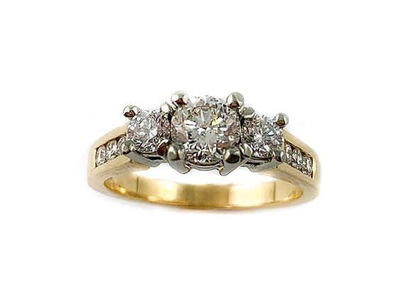 14k .60ctr SI3 G-H diamond ring