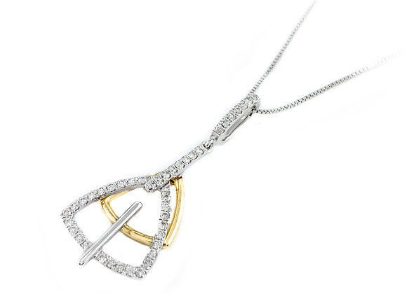 14k 0.21ctw diamond pendant