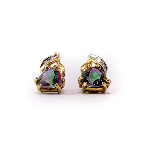 10k mystic topaz earrings