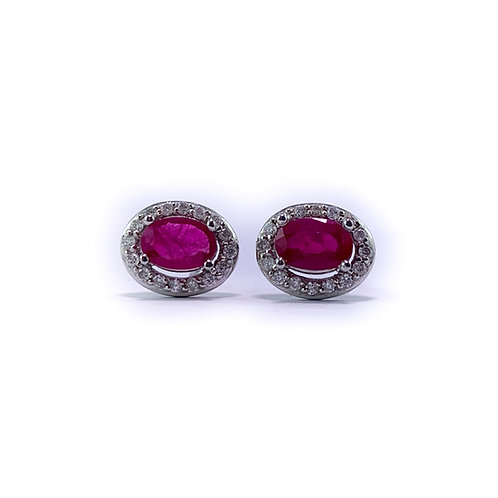 10k ruby and diamond earrings