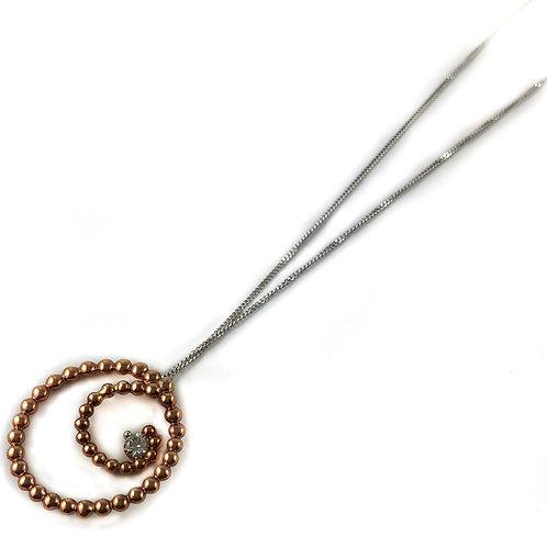 10k rose gold 0.08ctw diamond pendant