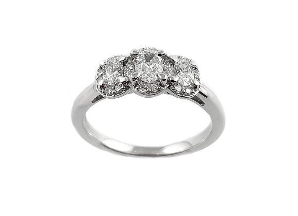 14k 0.50ctw diamond ring